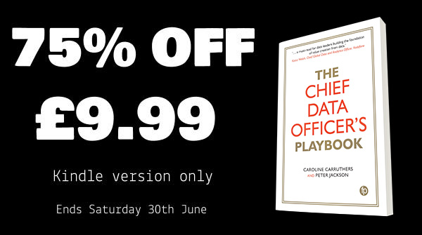 The Chief Data Officer's Playbook_jacket cover_Kindle offer_3D